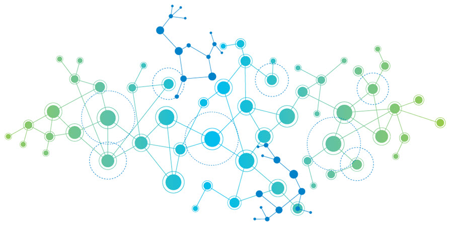 Stock photo of many lines forming an interconnected network