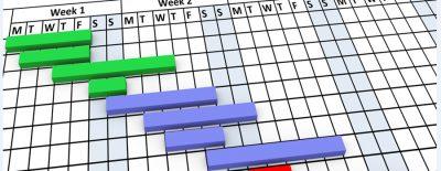 Stock photo of Gantt Chart Closeup