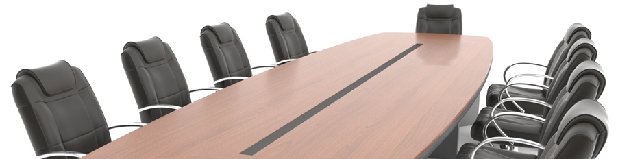 Stock photo of empty focus group table