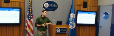 Cory Leading FEMA UX workshop