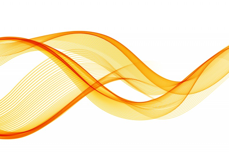 Yellow sine waves flowing up and down